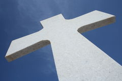 The cross. Cross on a greek church Royalty Free Stock Photo
