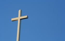 Cross. Against a blue sky stock photo