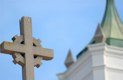 Cross. On lod spanish church Stock Image