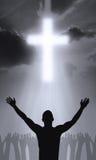 The Cross. Of Golgahta - Jesus Christ is alive Royalty Free Stock Photos