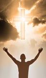 The Cross. Jesus Christ is alive Stock Image