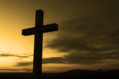 Cross. Christian cross silhouette Royalty Free Stock Photography
