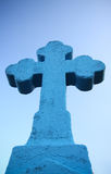 Cross. Blue cross on the sky Stock Images