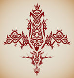 Cross. Stylized tribal Celtic inspired cross / tattoo Royalty Free Stock Photo