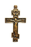 Cross. Metal cross on white royalty free stock image