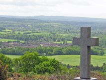 Cross. On a hill Royalty Free Stock Photo