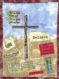 The Cross. Mixed Media Collage depicting the cross and words Royalty Free Stock Photos