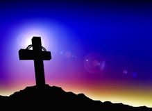 Cross. Jesus die for us and save us from sin;Good friday wallpaper Royalty Free Stock Photos