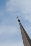 The cross above the church Stock Image