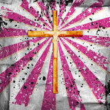 Cross on abstract grunge background Stock Image