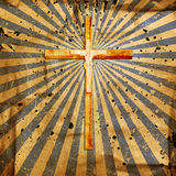 Cross on abstract grunge background Stock Images