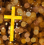 Cross on abstract grunge background Royalty Free Stock Photography
