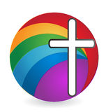 Cross abstract isolated logo Royalty Free Stock Photo