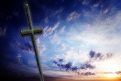 Cross against the sky Royalty Free Stock Photos