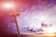 Cross against the sky Stock Photos