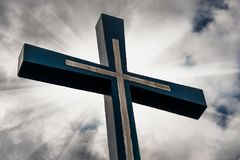 Cross against the sky Royalty Free Stock Photography