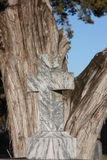 Cross. Aged Cemetery Cross in South Texas Royalty Free Stock Images