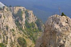 Cross upon Ai-Petri mountain. In the Crimea, Ukraine royalty free stock photos