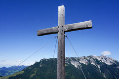 Cross in the Alps of Tyrol Royalty Free Stock Photos