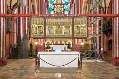 Cross altar of Doberan Minster in Bad Doberan, Germany Stock Photography