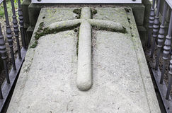 Cross ancient tomb Royalty Free Stock Photography