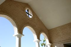 Cross and arches Stock Photography