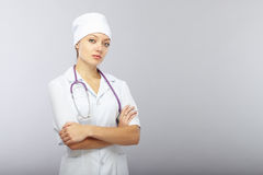 Cross-armed doctor Royalty Free Stock Photo