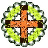 Cross on artistic background isolated Royalty Free Stock Photo