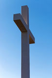 Cross as a symbol of Christianity with clear sky on background Stock Photography