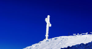 Cross Atop Mountain Royalty Free Stock Photo