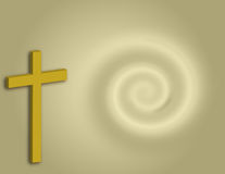 Cross Background. Cross over swirl background Stock Images
