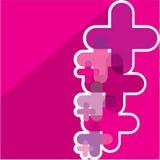 Cross background vector Stock Photo