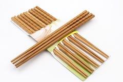 Cross bamboo chopsticks Stock Photos