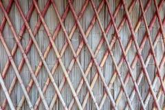Cross bamboo wall texture Stock Image