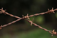 cross barbed wire Royalty Free Stock Photo