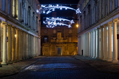 The Cross Bath Spa building and Bath Street, at night Royalty Free Stock Images