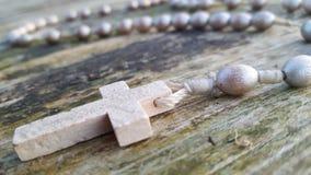 Cross. Beautiful necklace Stock Image