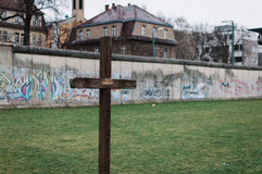 Cross at a Berlin Wall Memorial Royalty Free Stock Photography