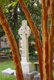 Cross Beyond Crepe Myrtle Tree Royalty Free Stock Photos