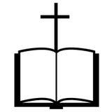 Cross and bible Stock Photos
