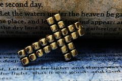 Cross and bible. Close up of Cross and bible Royalty Free Stock Images