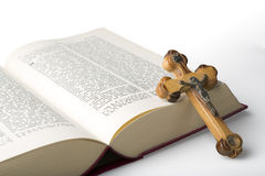 Cross and Bible Royalty Free Stock Photos