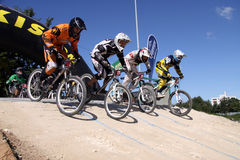 Cross Bike Racing. In Aichwald, Germany. There is every year a big event with a lot of races Royalty Free Stock Images