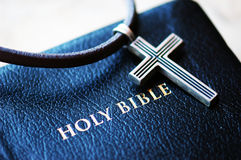 Cross with Bilble Royalty Free Stock Photo
