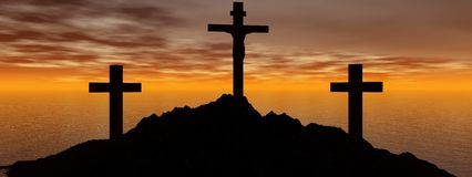 Cross black Royalty Free Stock Images