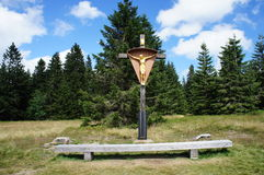 Cross in the Black Forest, Germany Stock Image