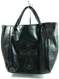 Cross black handbag Royalty Free Stock Photography