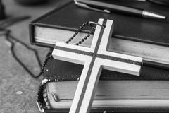 Cross with the black and white. Stock Photo