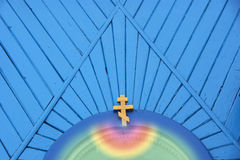 Cross on the blue. Stock Photography