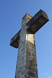 Cross on Blue Sky. Shot with canon 350d and 17-40mm L lens Royalty Free Stock Images